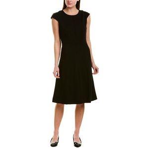 J. Crew • Cap Sleeve Ponte Knit Structured A-Line Dress Black Size 20